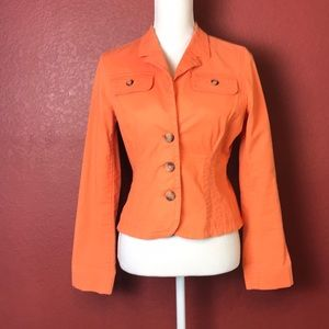 Tommy Hilfiger Fitted Orange Utility Jacket